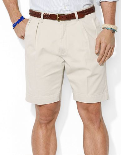 $69, Polo Ralph Lauren Classic Fit Pleated 9 Inch Chino Shorts. Sold by Lord