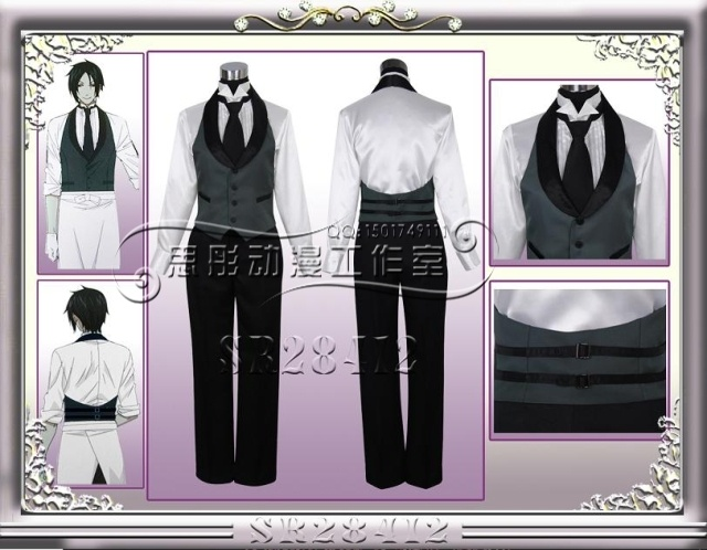 SWEETDAT Black Butler Sebastian Michaelis cosplay-in Costumes & Accessories from Apparel & Accessories on Aliexpress.com