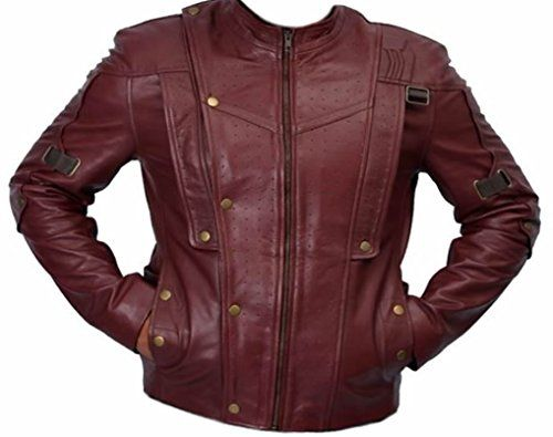 Coolhides Mens Guardian Galaxy Red Leather Jacket (3XLarge Red Sheep Leather) @ niftywarehouse.com #NiftyWarehouse #Geek #Fun #Entertainment #Products