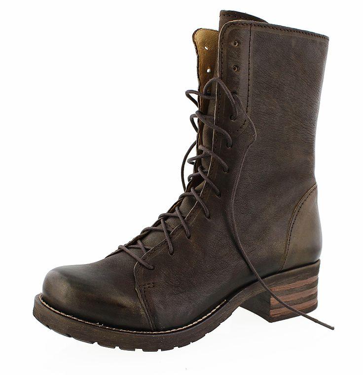 BRAKO BRK 454 Military 8470-moka-pearl Damen Biker-Boots mokka-braun