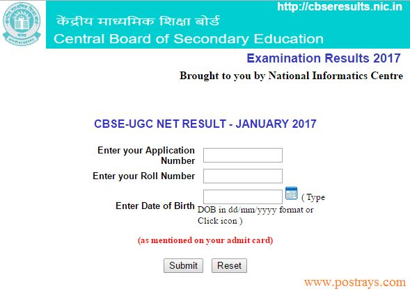 CBSE-UGC NET RESULT - JANUARY 2017: CBSE recently announced results of UGC-NET January 2017 Exam on Monday at their official website @cbseresults.nic.in