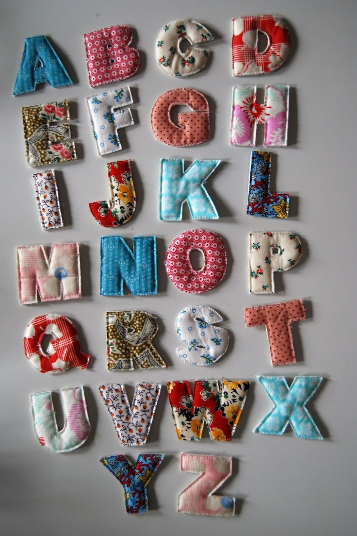 fabric letters out of isaacs weekly fabric maybe numbers 1 20