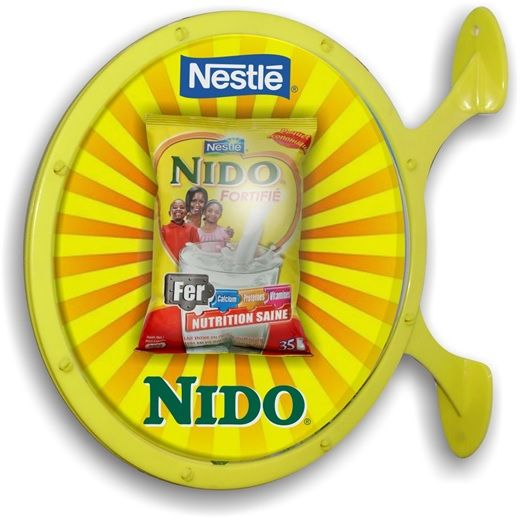Nestle Nido Globe Sign; Designed & Produced By Display Power Global- Pakistan