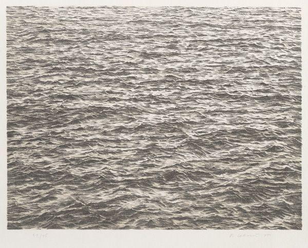 Vija Celmins, Untitled (Ocean), from the portfolio Untitled, 1975, 1975