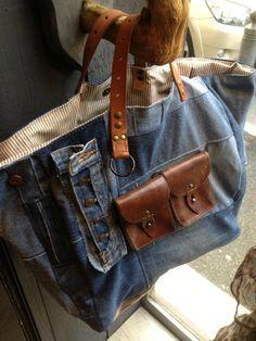 Preciosas Fotos de varios diseños de bolsos en tela y denim !!!!!