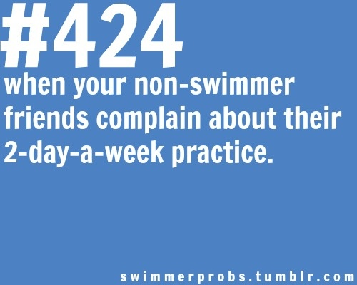 really? want to come swim with me 6 days a week? #swimmerprobs
