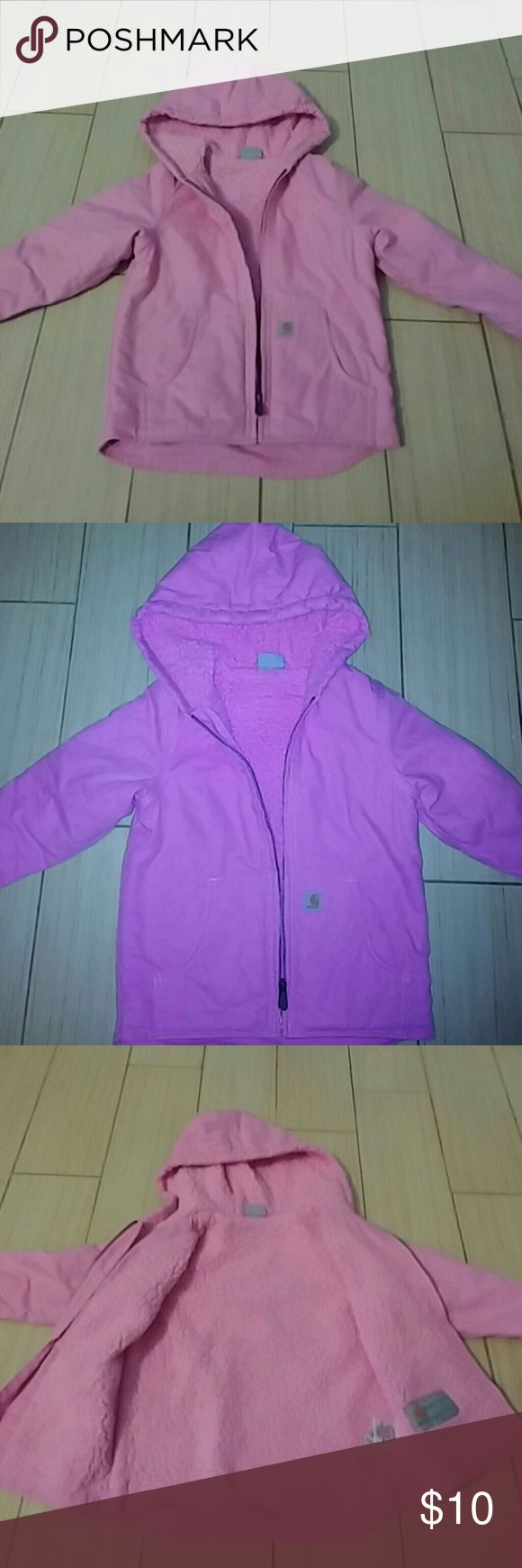 Pink jacket pink jacket Girls toddler's whole heart jacket in good condition Carhartt Jackets & Coats