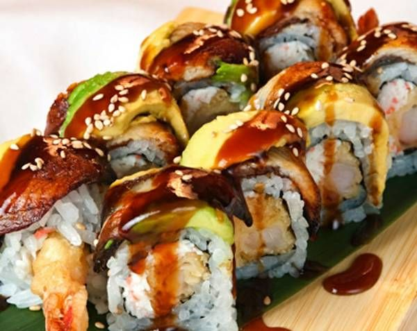 Sunset Sushi Roll - Watch recipe video here: http://dailycookingvideos.com/2011/12/08/sunset-sushi-roll/