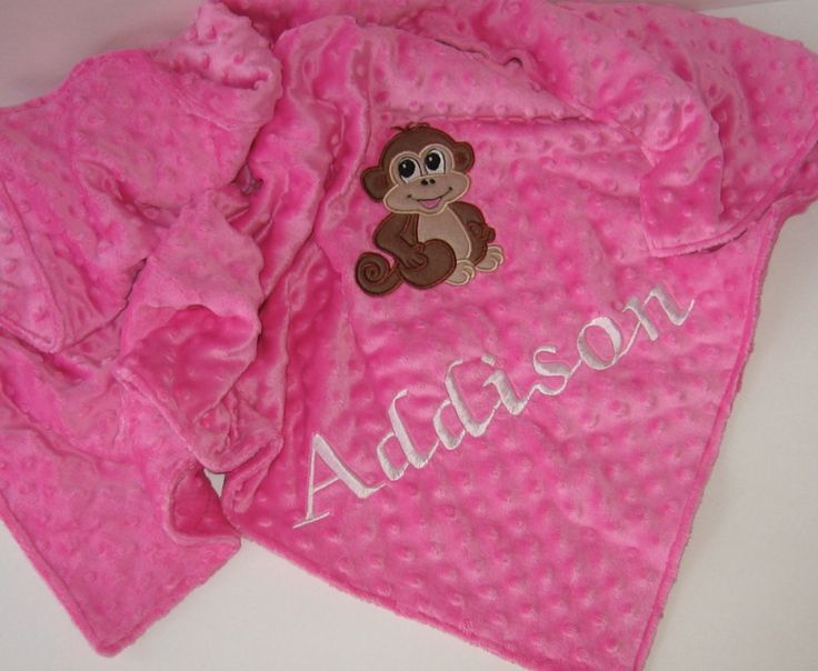 89 best baby gifts images on pinterest pullover baby bibs and personalized baby blanket monkey blanket toddler blanket minky blanket color choice negle Images