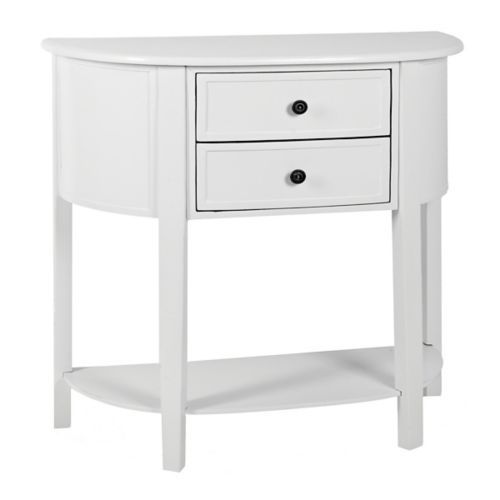 Arianna Cream Half Moon Console Table | Kirklands