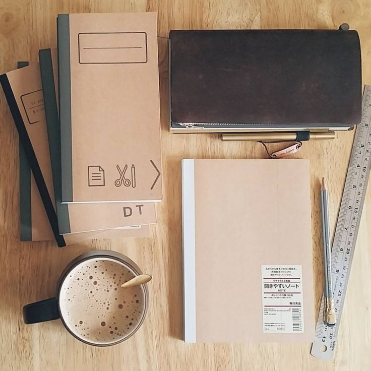 #midorimornings 241/365 Preparing fresh notebooks for my Midori, alongside a milk tea latte. (#widn for @thatsitreally, miss you!!) P.S. I'm often asked about the thick inserts I use: These are the A5 Muji notebooks I buy and get trimmed. They're from the costlier range, but open flat, have lots of pages, and I love the paper!