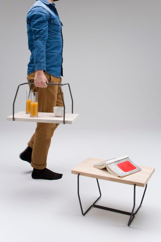 I like that this piece of furniture has more than one use. I can't imagine carrying drinks on it is a very good idea.