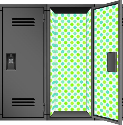 Locker Designz Deluxe Locker Wallpaper, Polka Dot