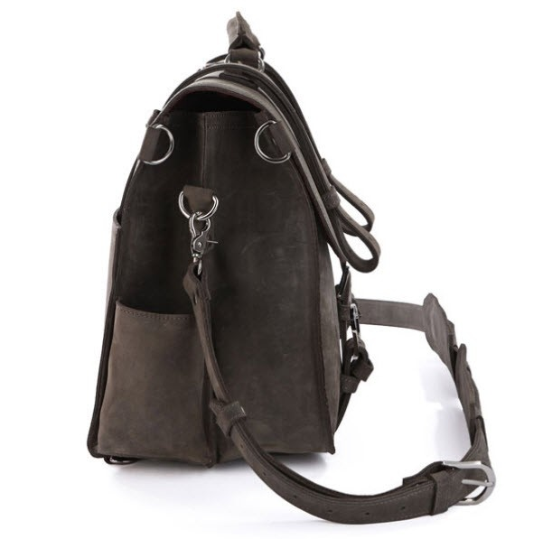 "ModernManBags.com - ""Santiago 2"" Men's Full Grain Distressed Leather Backpack"