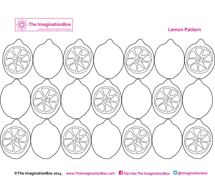 21 lovely lemons to fill with pattern and color! Free to