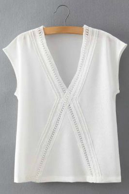I'm always on the lookout for a white blouse and this one is pretty and feminine too. The v-neck would be flattering too and hopefully it wouldn't be too short.