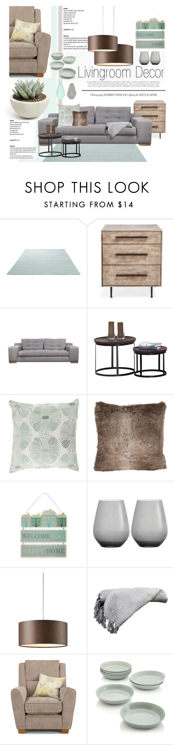 """""""Mint green, grey and brown"""" by dian-lado ❤ liked on Polyvore featuring interior, interiors, interior design, home, home decor, interior decorating, ESPRIT, MANGO, Wedgwood and Crate and Barrel"""