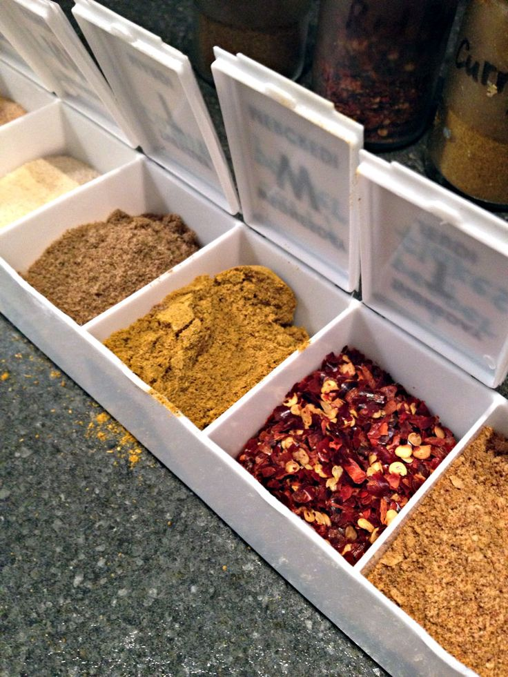 Great idea for adding a little spice to your camping recipes! Use a pill reminder box and fill each compartment with various spices and seasonings.