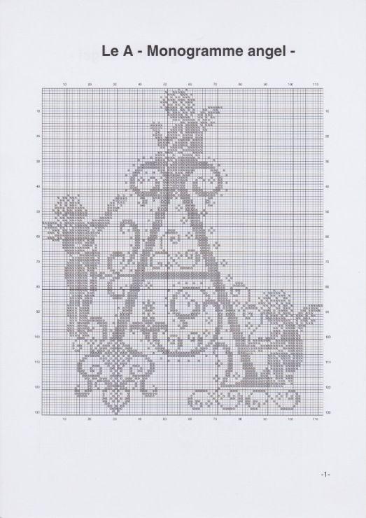 Gallery.ru / Фото #4 - JD327 - Monogrammes Angels - lyulnar