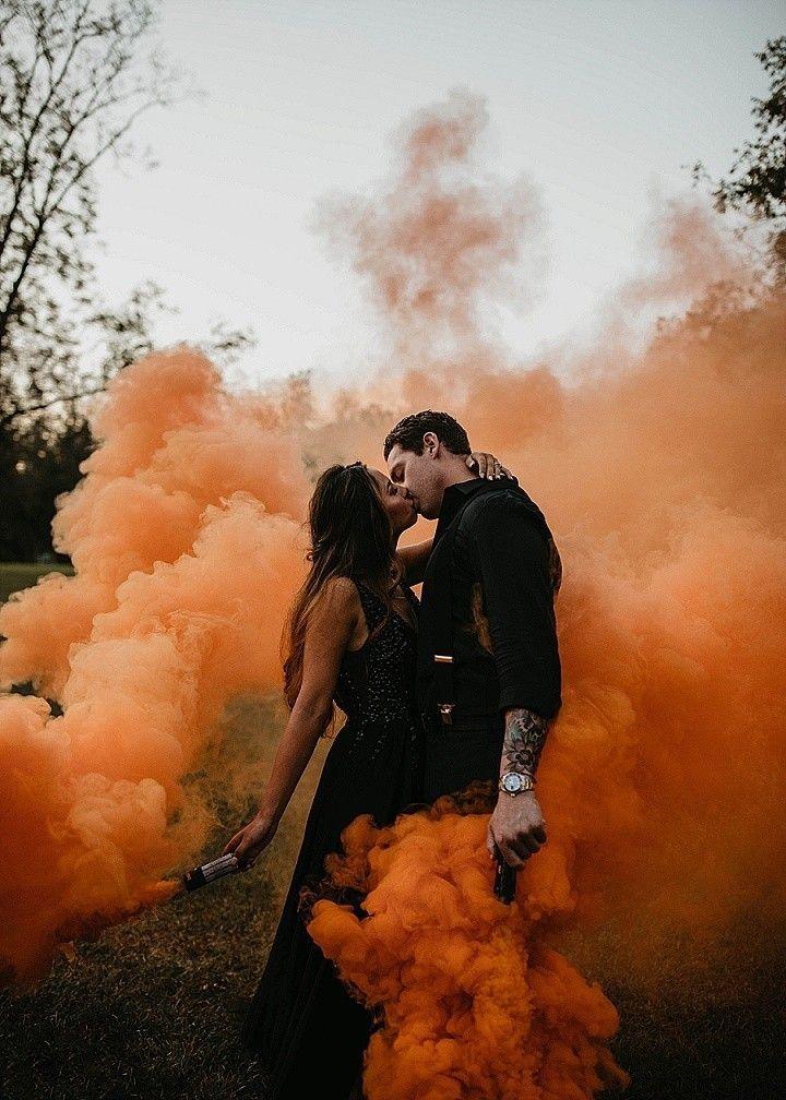 Smoke Bombs and Pumpkins for an Orange and Black Halloween