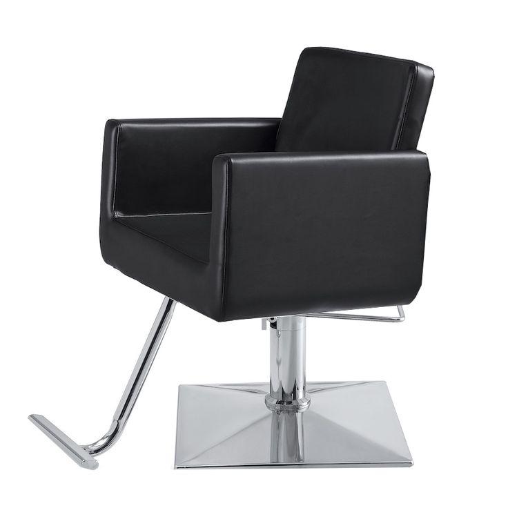 Draper White Salon Chair
