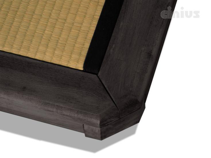 [Letto Dojo] Il Tatami tradizionale giapponese è così elegante che basta cingerlo con il legno massello per renderlo adatto ad ogni camera da letto. (The traditional Japanese Tatami is so elegant that just encircling it with solid wood makes it suitable for any bedroom.) #Cinius