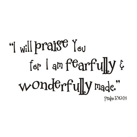 Fearfully and Wonderfully Made Psalm 139 14