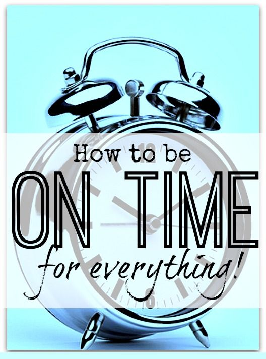 To be on time for everything you have to be conscious of time.  If I can give you just one trick today, then it's this:-  To be on time for everything you need to schedule in your preparation time as well as your meeting time. Use your diary as your own personal P.A!
