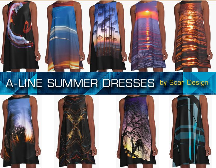 Summer A- Line Dresses by Scar Design #summerclothing #summervacationsdress #beachdress #beach #redbubble #summerfashion #giftsforher #gifts #giftsforteens #summergifts #womensfashion #hipster #colorful #style #swag #sunset #sunsetdress #dress #summerdress #summer2016 #buydress #Alinedress #buydresses