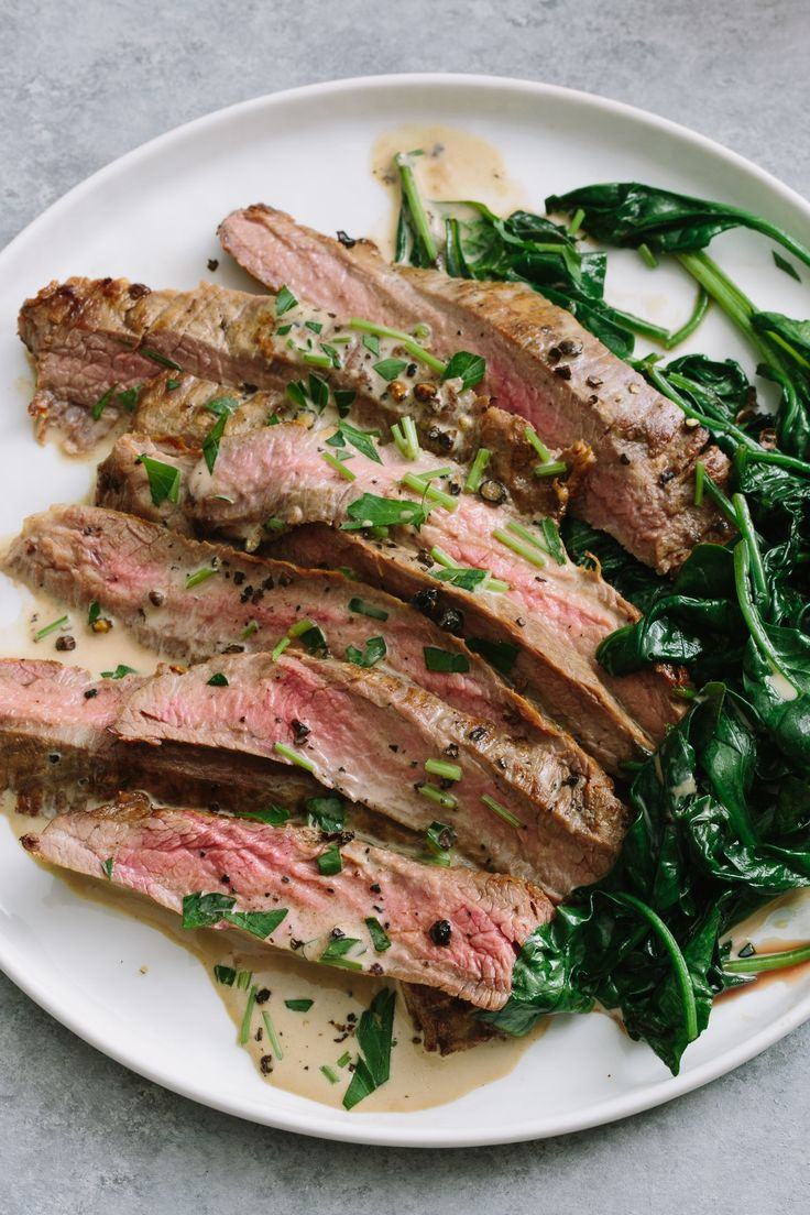 Recipe: Flank Steak with Bourbon Cream Sauce — Quick and Easy Weeknight Dinners #recipes #food #kitchen