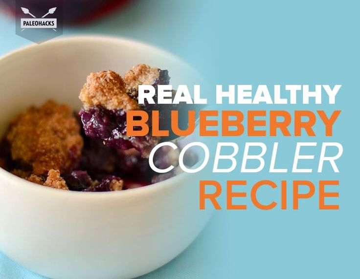 Paleo berry cobbler is a light and easy summer dessert for the whole family. In this recipe fresh blueberries are baked and topped with crunchy pecans!