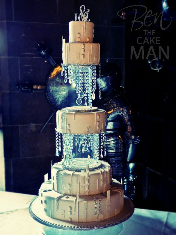 5 tier Swarovski crystal wedding cake. Oh My How I need tis in my life....