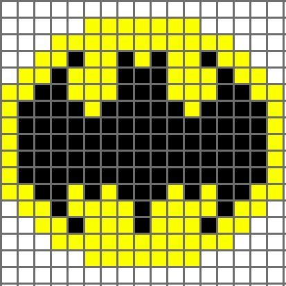 Free graph patterns for crocheting | Free Crochet Pattern Bat (Batman) Logo Chart - Crocheting Patterns ...: