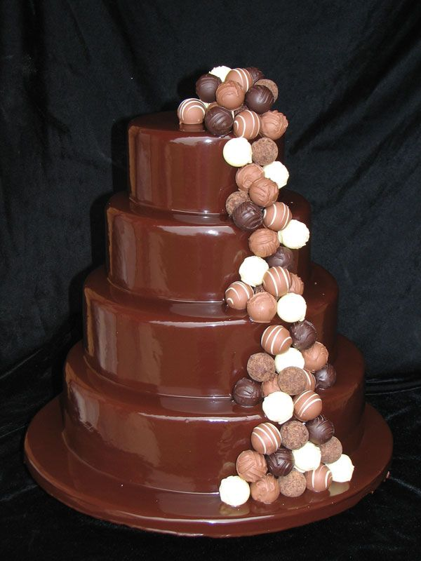 #chocolate wedding cake ... Wedding ideas for brides bridesmaids, grooms groomsmen, parents planners ... https://itunes.apple.com/us/app/the-gold-wedding-planner/id498112599?ls=1=8 … plus how to organise an entire wedding, without overspending ♥ The Gold Wedding Planner iPhone App ♥