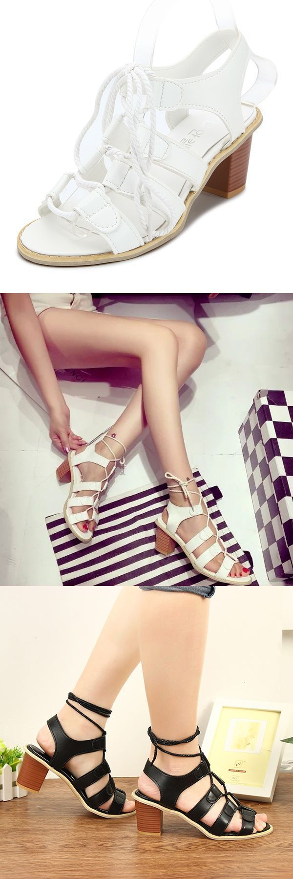 Summer women fashion comfortable heeled outdoor lace up casual heeled sandals shoes samp;h sandals #sandals #exuma #hurricane #sandals #hotels #sandals #j #crew #sandals #w #bottle #opener