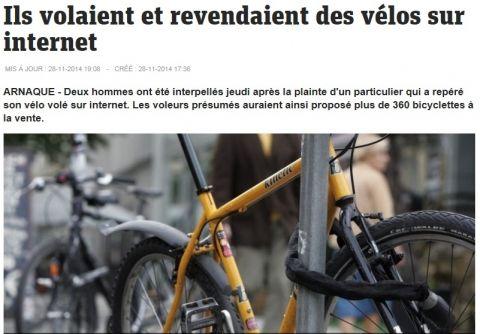 자전거를 다량으로 훔쳐 중고 물품 거래 사이트에 되판 삼촌과 조카가 경찰에 붙잡혔다. 10월 말 한 자전거 주인은 자전거를 도난당했고 프랑스 중고 물품 거래 사이트 봉꾸앙(Le boncoin.fr)에서 자신의 자전거를 발견했다. 하지만…