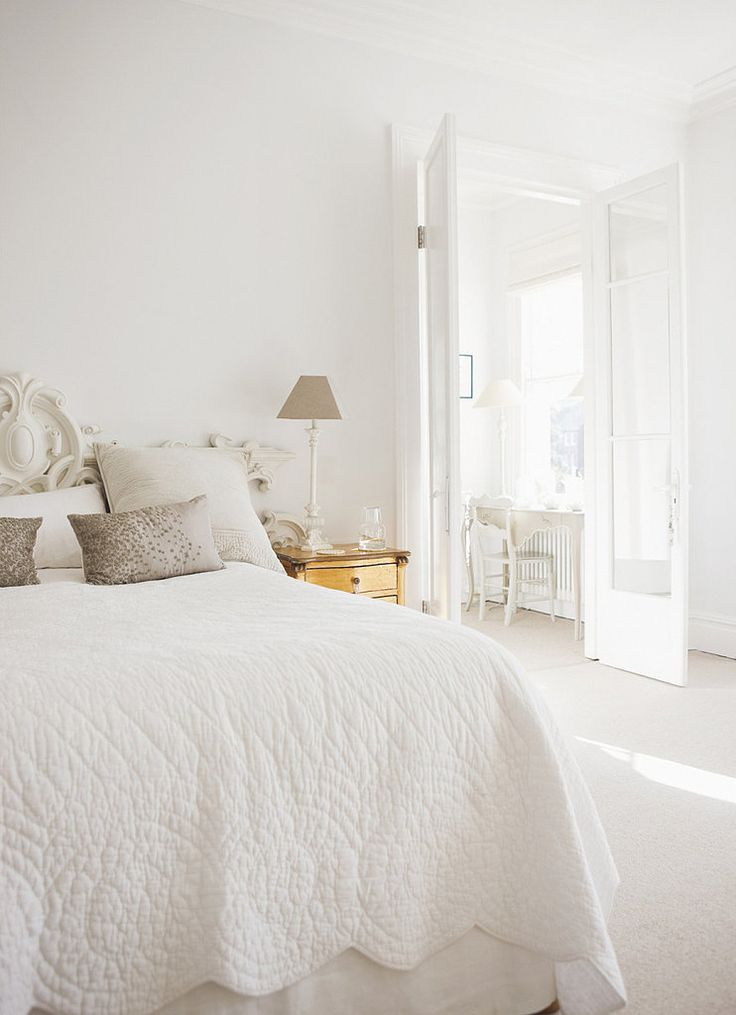The Trick to Keeping Neutrals Far From Boring: Decor, Ideas, Interior, All White, Inspiration, Style, White Bedrooms, Serene Bedroom, Keeping Neutral