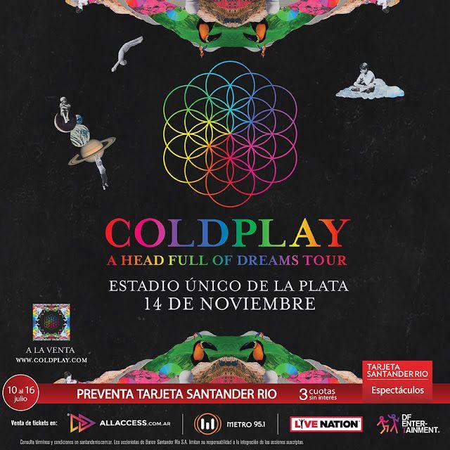 Coldplay vuelve a Argentina  Coldplay anunció que volverá a Brasil y Argentina en noviembre para presentar sus últimos shows con la gira que rompió todos los records: A Head Full Of Dreams Tour. La gira terminará en el mismo lugar donde empezó el Estadio Único de La Plata en Buenos Aires con un show producido por Live Nation y DF Entertainment. Desde esa fecha en marzo 2016 la banda ha recorrido el mundo vendiendo más de 46 millones de tickets para sus shows en Latinoamérica Europa Asia…