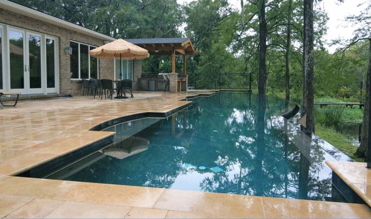 Swimming pool design central florida infinity pools and for Pool edges design