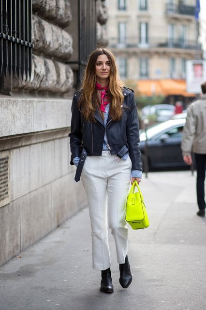 Spring Scarves Are A Massive Fashion Trend: Here's How To Do It Right #refinery29  http://www.refinery29.com/spring-scarves-outfits#slide-3  A little knot against your bare neck is subversive and sexy — see the image on the right for reference.For a similar style, try:
