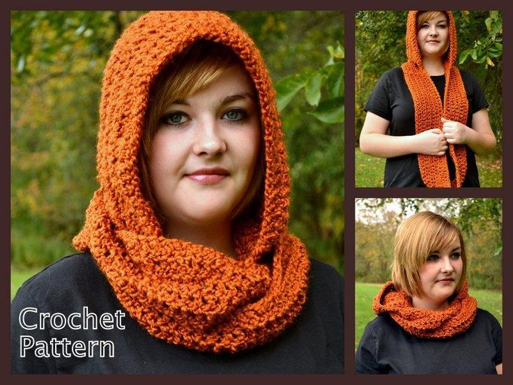 Hooded Scarf or Cowl Crochet Pattern pattern on Craftsy.com