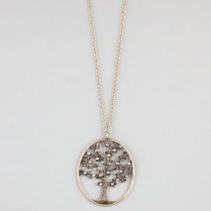 #rhinestone #tree #necklace