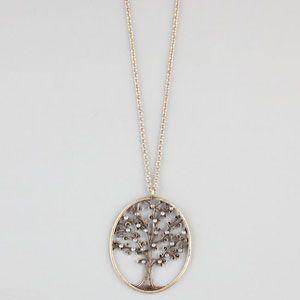 #rhinestone #tree #necklace