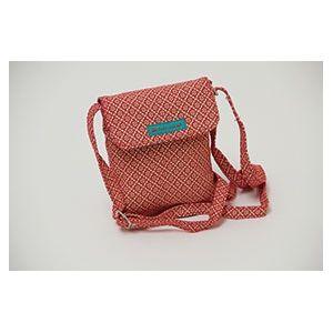Pochette toile rouge Froy  & Dind. En vente sur http://www.chatfoin.com/
