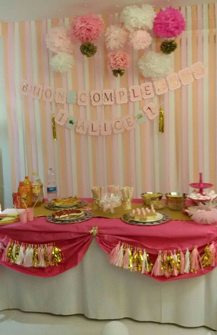 Pink and gold -   First Happy Birthday Alice