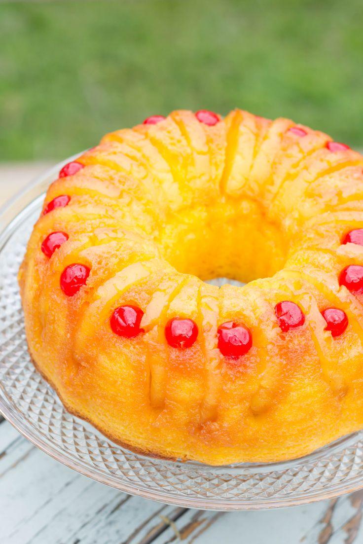 Pineapple Upside-Down Bundt Cake : Kendra's Treats