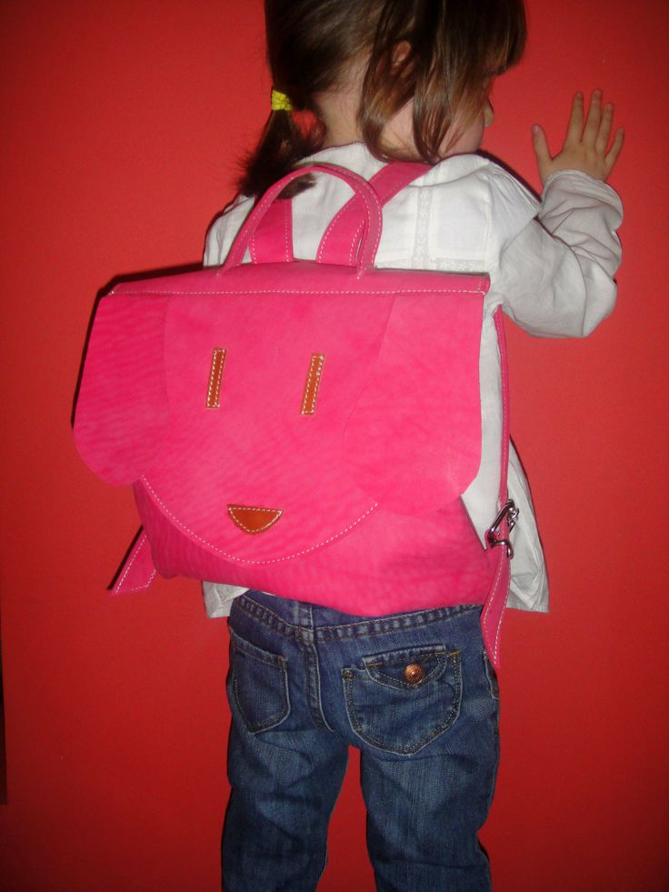kids leather backpack