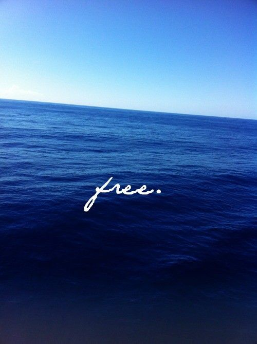 The sea sets me free. -S