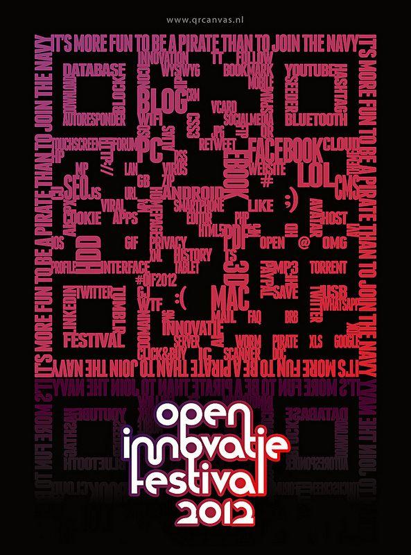QRcanvas QR code design Open Innovatie Festival 2012   par spreadthewordnl