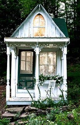 Turn an old shed into a backyard escape :) Fix it up and add a furniture and you have a second home.